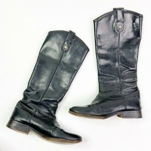 FRYE Melissa 5.5 US Riding Boots Black Leather
